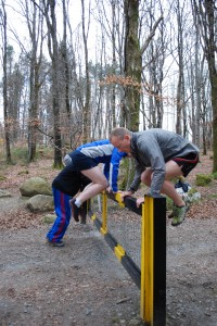 Practicing gate vaulting with natural movement