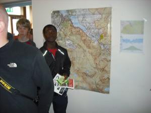 Amidou at the Snowdon map