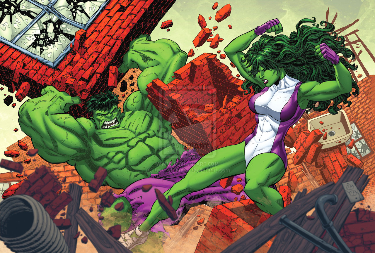 Hulk and she hulk