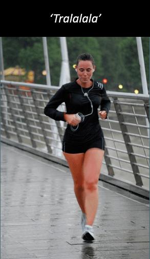 Unfocused runner