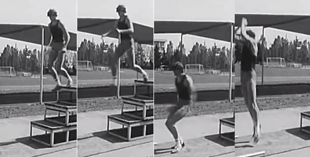 Explosive jumping onto hard surfaces was considered essential athletic conditioning as far back as the 1950ies